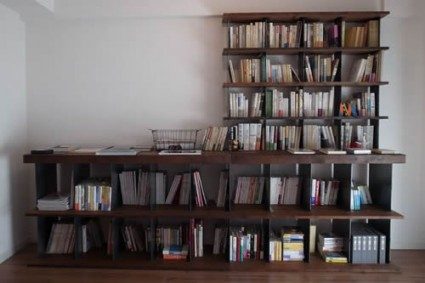 BIBLIOPHILICカウンター付き本棚